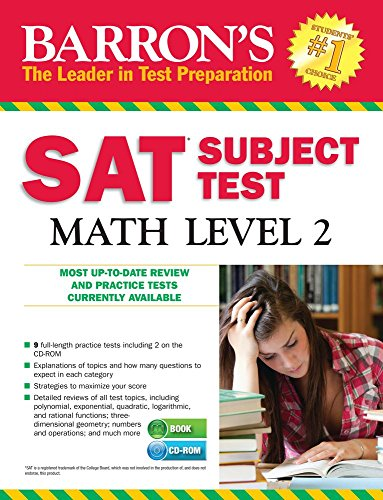 9781438076324: Barron's SAT Subject Test: Math Level 2, 12th Edition [With CDROM]