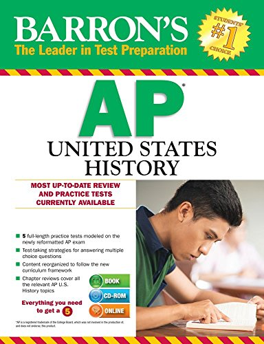 9781438076348: Barron's AP United States History with CD-ROM, 3rd Edition