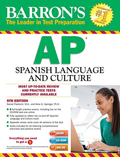 9781438076751: Barron's AP Spanish Language and Culture with MP3 CD & CD-ROM, 9th Edition