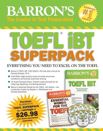 9781438093055: Barron's TOEFL iBT Superpack