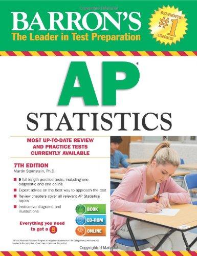 9781438093154: Barron's AP Statistics with CD-ROM, 7th Edition