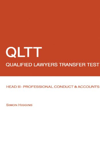 9781438236193: QLTT - Head III - Professional Conduct and Accounts