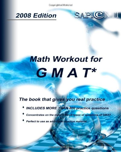 9781438254456: Math Workout For Gmat By Sapienti