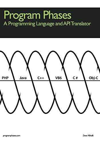 Program Phases, A Programming Language And API Translator: Mihalik, Dave