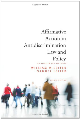 9781438435138: Affirmative Action in Antidiscrimination Law and Policy: An Overview and Synthesis