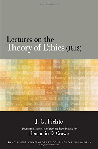 9781438458694: Lectures on the Theory of Ethics 1812 (Suny Series in Contemporary Continental Philosophy)