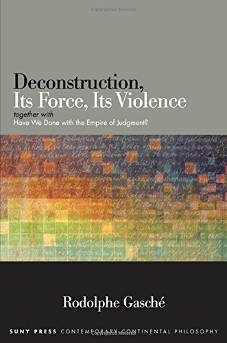 9781438460017: Deconstruction, Its Force, Its Violence: Together With