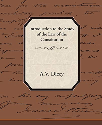 9781438513911: Introduction to the Study of the Law of the Constitution