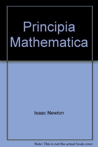 Principia Mathematica (1438763506) by Isaac Newton
