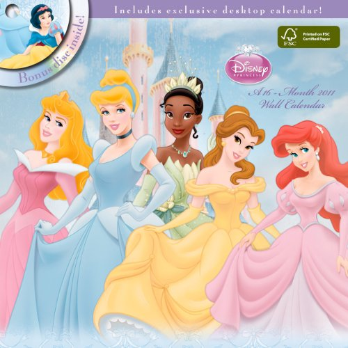 9781438807713: Disney Princess 2011 Wall Calendar with DVD