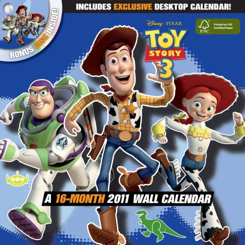 9781438807782: Disney Toy Story 3 2011 Wall Calendar with DVD