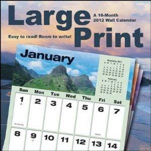 9781438812670: Large Print 2012 Wall Calendar