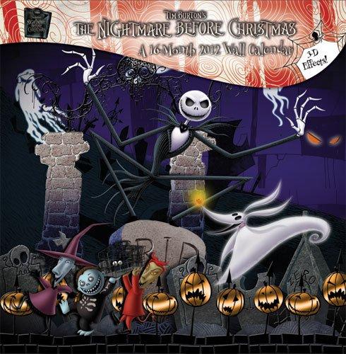 9781438812885: Nightmare Before Christmas 2012 Lenticular Wall Calendar