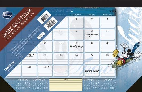 9781438814131: Disney Mickey Mouse 2012 Desk Pad Calendar