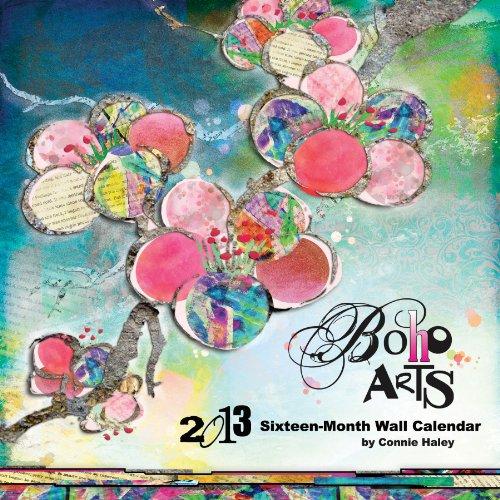 9781438821993: Connie Haley Boho Arts 2013 Linen Wall Calendar