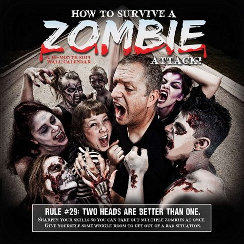 9781438825700: How to Survive a Zombie Attack! 2014 Calendar