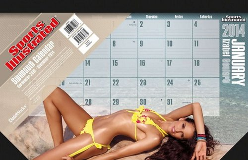9781438826639: Sports Illustrated Swimsuit 2014 Desk Pad Calendar