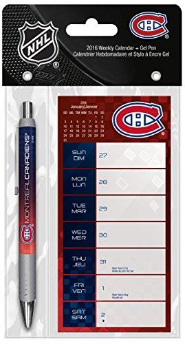 9781438841885: Montreal Canadiens Weekly 2016 Calendar + Pen