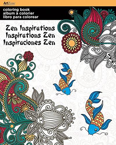 Trends International Adult Coloring Book, Zen Inspirations: Trends International