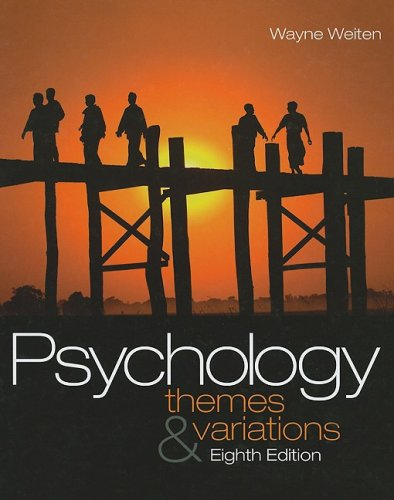 9781439001295: Psychology: Themes and Variations - Text Only