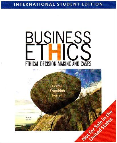 9781439035689: Business Ethics