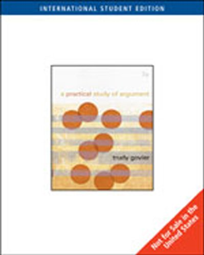 9781439035764: A Practical Study of Argument, International Edition