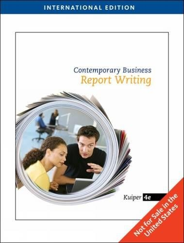 9781439037164: Contemporary Business Report Writing
