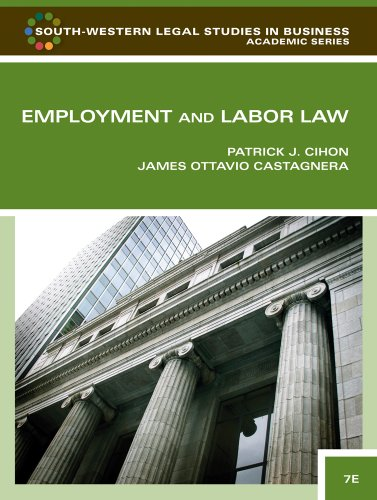9781439037270: Employment and Labor Law (South-Western Legal Studies in Business Academic)