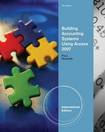 9781439037492: Building Accounting Systems Using Access, International Edition