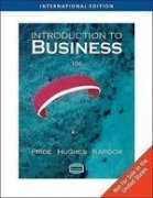 Introduction to Business (9781439037515) by William M. Pride; Robert J. Hughes; Jack R. Kapoor