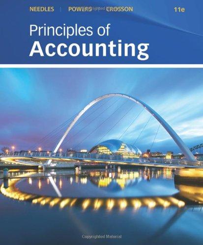 Principles of Accounting: Needles, Belverd E.,