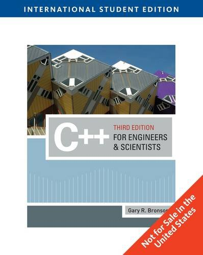 9781439039502: C++ for Engineers and Scientists