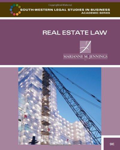 Real Estate Law: Jennings, Marianne M.