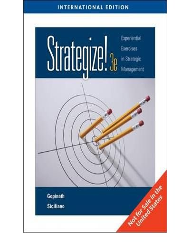 9781439041291: Strategize!: Experiential Exercises in Strategic Management