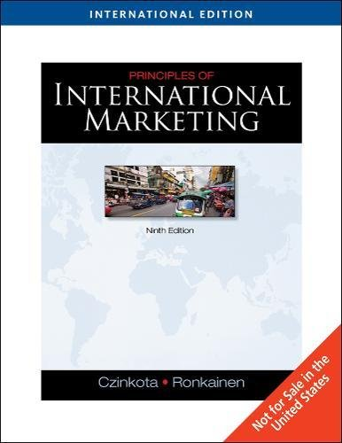 9781439041376: Principles of International Marketing