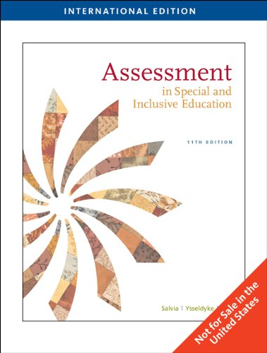 9781439041444: Assessment: In Special and Inclusive Education