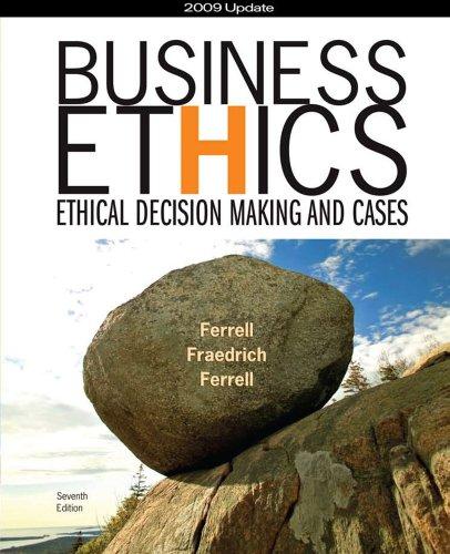 9781439042816: Business Ethics 2009 Update: Ethical Decision Making and Cases