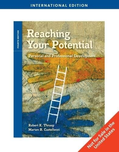 9781439043752: Reaching Your Potential: Personal and Professional Development, International Edition