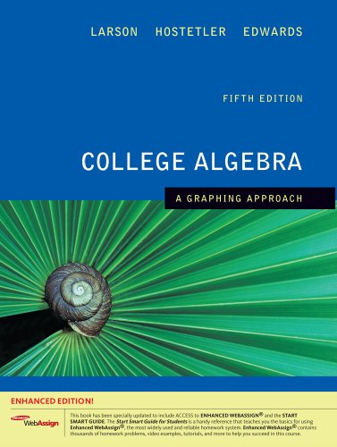 9781439043806: College Algebra: A Graphing Approach, Enhanced Edition (with Enhanced WebAssign 1-Semester Printed Access Card) (Available 2010 Titles Enhanced Web Assign)
