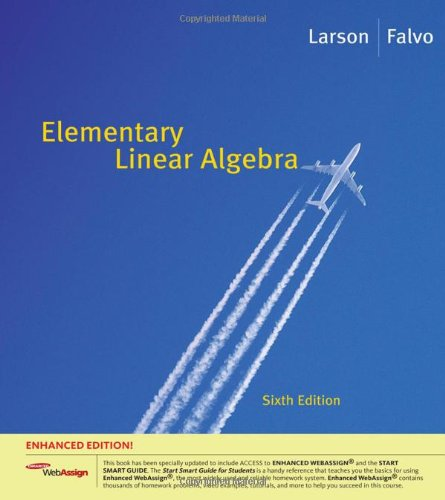 9781439044001: Elementary Linear Algebra, Enhanced Edition (with Enhanced WebAssign 1-Semester Printed Access Card) (Available 2010 Titles Enhanced Web Assign)