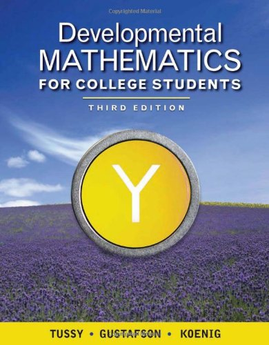 9781439044377: Developmental Mathematics for College Students (Available Titles CengageNOW)