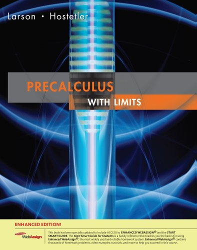 9781439044391: Precalculus with Limits: Enhanced Edition (Available 2010 Titles Enhanced Web Assign)