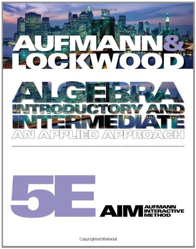 9781439046951: Algebra: Introductory and Intermediate: An Applied Approach (Available Titles CourseMate)
