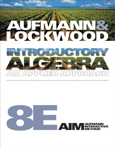 9781439047118: Student Solutions Manual for Aufmann/Lockwood's Introductory Algebra, 8th