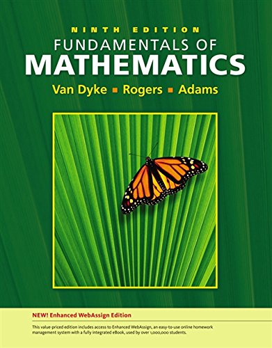 Fundamentals of Mathematics, Enhanced Edition (with Enhanced WebAssign 1-Semester Printed Access ...