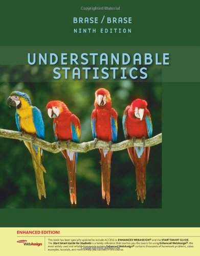 9781439047798: Understandable Statistics, Enhanced Edition (with Enhanced WebAssign 1-Semester Printed Access Card)