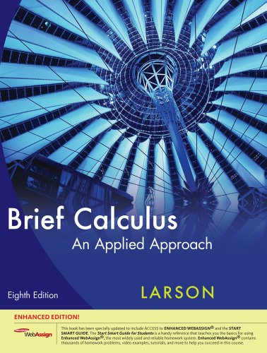 9781439047804: Brief Calculus: An Applied Approach, Enhanced Edition (with Enhanced WebAssign 1-Semester Printed Access Card) (Available 2010 Titles Enhanced Web Assign)