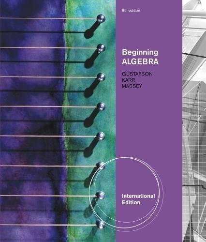 9781439047866: Beginning Algebra, International Edition