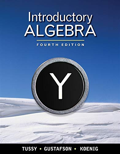 Introductory Algebra (Available Titles CourseMate) (9781439047873) by Tussy, Alan S.; Gustafson, R. David; Koenig, Diane