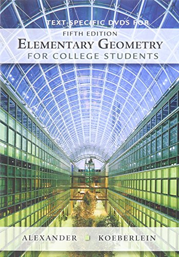 9781439047958: Text-Specific DVD for Alexander/Koeberlein's Elementary Geometry for College Students, 5th